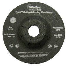 "Weiler - Vortec Pro Type 27 Pipeline - Cutting & Light Grinding Wheels 4"" X 1/8""  A24R  5/8"" Ah: 804-56431 - 4"" x 1/8""  a24r  5/8"" ah"