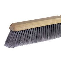 "Sweeping Brush Head With 24"" Wood Block And 3"" Trim Flagged Silver Synthetic Fill"