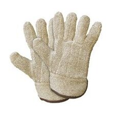 X-Large Brown Jomac® Extra Heavy Weight Terry Cloth Reversible Ambidextrous Heat Resistant Gloves With Safety Cuff