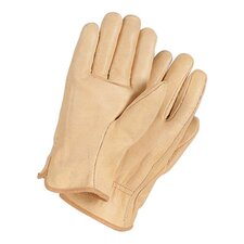 X-Large Tan Grain Cowhide Unlined Gunn Cut Drivers Gloves With Straight Thumb And Bound Hem