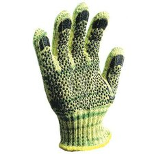Large Whizard® METALGUARD® Heavy Weight Para-aramid synthetic fiber®, Stainless Steel And Polyester Cut Resistant Gloves With PVC Dots Coating