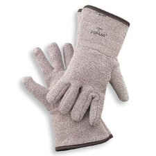 "X-Large Brown Jomac® Extra Heavy Weight Terry Cloth Reversible Ambidextrous Heat Resistant Gloves With 4-1/2"" Gauntlet Cuff"