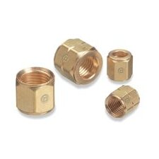 1/4 NPT Right Hand Female Brass Hand Tight Regulator Nut CGA 577