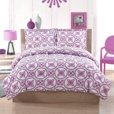 Baroque Circles 3 Piece Full Comforter Set