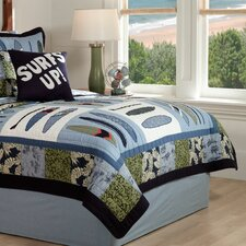 Catch a Wave 3 Piece Full / Queen Quilt Set
