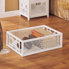 Solar Rectangular Storage Basket in White