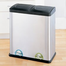 15.85-Gal. 2 Compartment Step-On Recycling Bin