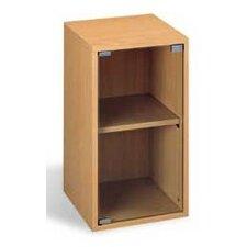 2 Tier Vertical Cabinet with Glass Door