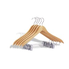 Suit / Jacket Hanger with Clips (Set of 5)