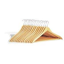 Dress Hanger with Wood Bar (Set of 15)