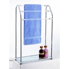 Acrylic Free Standing Towel Rack with Shelf