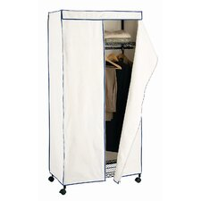 <strong>OIA</strong> Avant Storage Wardrobe in Black and Canvas with Navy Trim