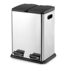 10.57-Gal. 2 Compartment Step-On Recycling Bin