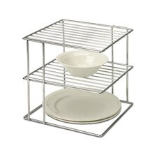 <strong>OIA</strong> 2 Tier Wire Cabinet Corner Shelf