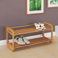 Lohas Stackable Shoe Rack in Caramel
