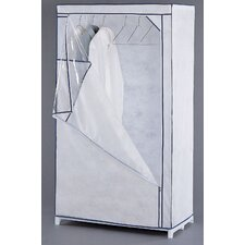 White Storage Wardrobe in White