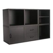 Cube Storage System in Black (5 in 1)