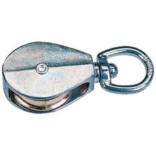"<strong>Peerless Chain Company</strong> Swivel Eye Rope Pulleys - 1-1/4"" swivel eye pulley/sgl"