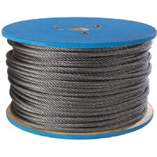 Aircraft Quality Wire Ropes - 1/8 7x7 galv wire rope 500 ft