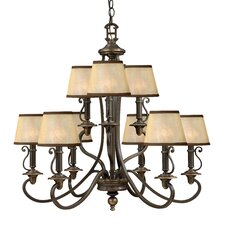 <strong>Hinkley Lighting</strong> Plymouth 9 Light Chandelier