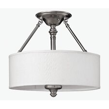 Sussex 3 Light 75W Semi Flush Mount