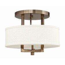 Hampton 3 Light Semi Flush Mount