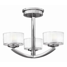 Meridian 3 Light Semi Flush Mount