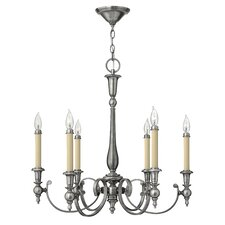 <strong>Hinkley Lighting</strong> Yorktown 6 Light Chandelier