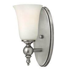 Yorktown 1 Light Wall Sconce with Etched Opal Glass