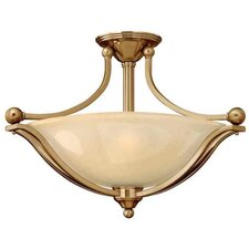 Bolla 3 Light Semi Flush Mount Foyer