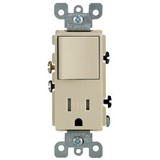 Single Pole Switch and Receptacle Combination