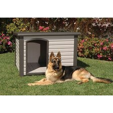 ProConcepts Cozy Cabin Dog House in White / Gray