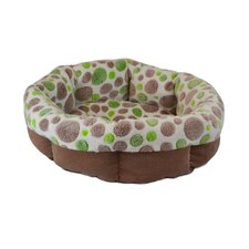 <strong>Precision Pet Products</strong> Cute as a Button Shearling Round Donut Dog Bed