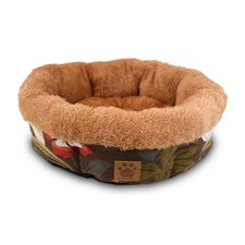 Natural Surroundings Floral Shearling Round Dog Bed