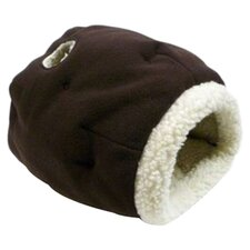 Cat Cave Cat Bed in Chocolate/Sheepskin