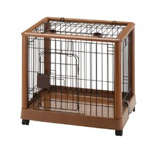 Hardwood Mobile Pet Crate
