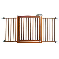 Extra Wide One-Touch Wooden Pet Gate