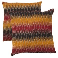 Rainbow Cascade Cotton Decorative Pillow (Set of 2)