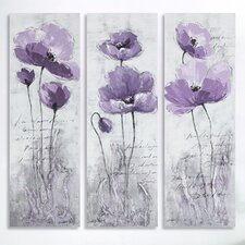 <strong>Safavieh</strong> 3 Panel Poppy Painting