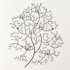 Iron 7 Votive Tree Wall Decor