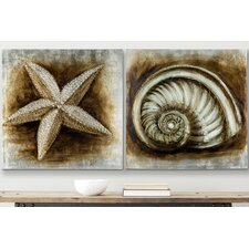 <strong>Safavieh</strong> Shell Painting (Set of 2)