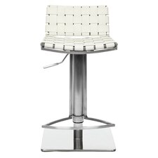 "18.5"" Liam Leather Barstool in White"