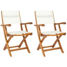 Andy Folding Dining Arm Chairs (Set of 2)