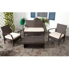 <strong>Safavieh</strong> Avaron 4 Piece Deep Seating Group with Cushion