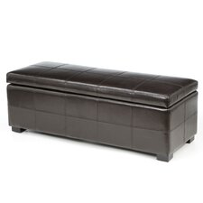 <strong>Safavieh</strong> Madison Leather Entryway Storage Ottoman
