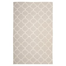 Dhurries Light Pink/Ivory Area Rug