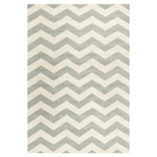 Chatham Chevron Grey & Ivory Area Rug