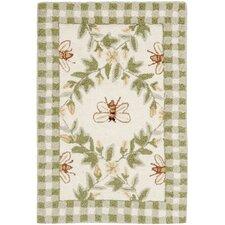 Chelsea Ivory/Green Bumblebee Rug