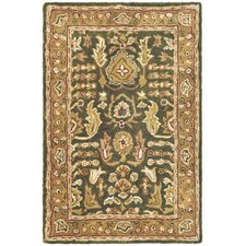Classic Green/Gold Tree of Life Rug