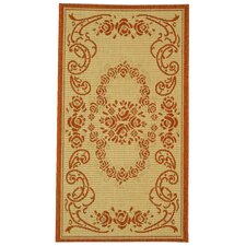 <strong>Safavieh</strong> Courtyard Natural/Terra Rug